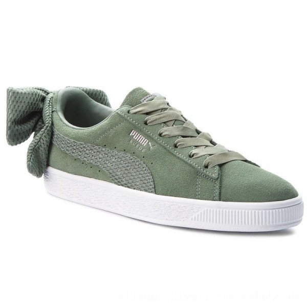 Puma Sneakers Suede Bow Uprising Wn's 367455 02 Laurel Wreath/Puma White [Outlet]