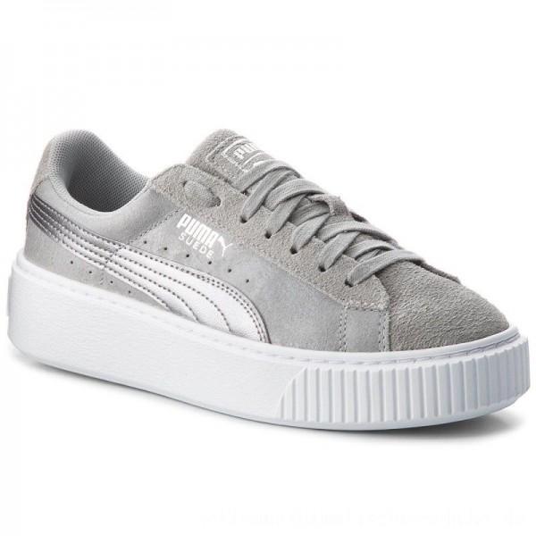 Puma Sneakers Suede Platform Safari 364594 02 Quarry/Quarry [Sale]