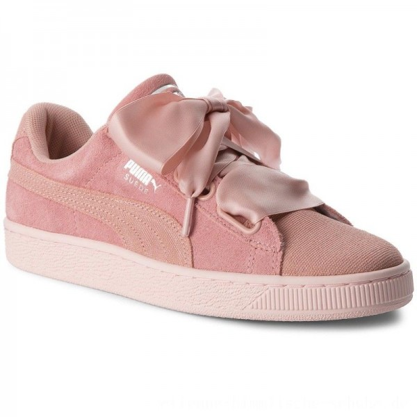Puma Sneakers Suede Heart Pebble Wn's 365210 01 Peach Beige/Pearl [Outlet]