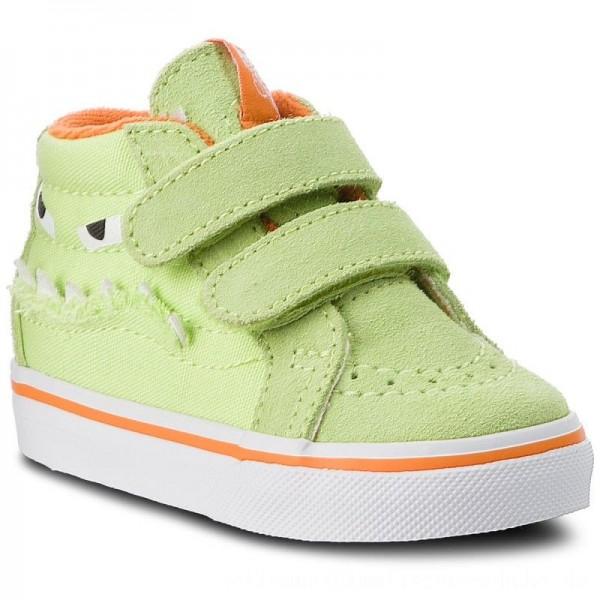 Vans Sneakers Sk8-Mid Reissue V VN0A348JU4R (Monster Face) Green/Russet Orange [Sale]