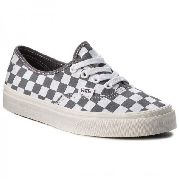 Vans Turnschuhe Authentic VN0A38EMU531 (Checkerboard) Pewter/Mar [Outlet]