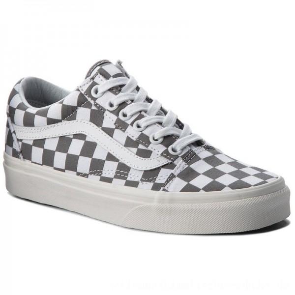 Vans Turnschuhe Old Skool VN0A38G1U53 (Checkerboard) Pewter/Marshmallow [Sale]