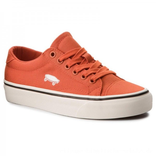 Vans Turnschuhe Court Icon VN0A3JF2U861 (Canvas) Pureed Pumpkin/C [Outlet]