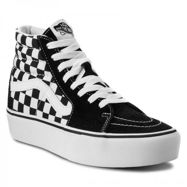 Vans Sneakers Sk8-Hi Platform 2 VN0A3TKNQXH Checkboard/True White [Outlet]