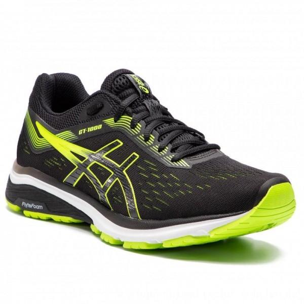 Asics Schuhe GT-1000 7 1011A042 Black/Hazard Green 004 [Sale]