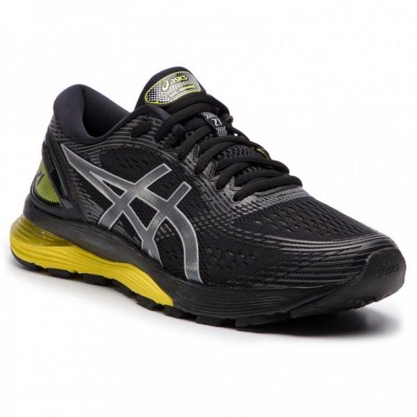 Asics Schuhe Gel-Nimbus 21 1011A169 Black/Lemon Spark 003 [Sale]
