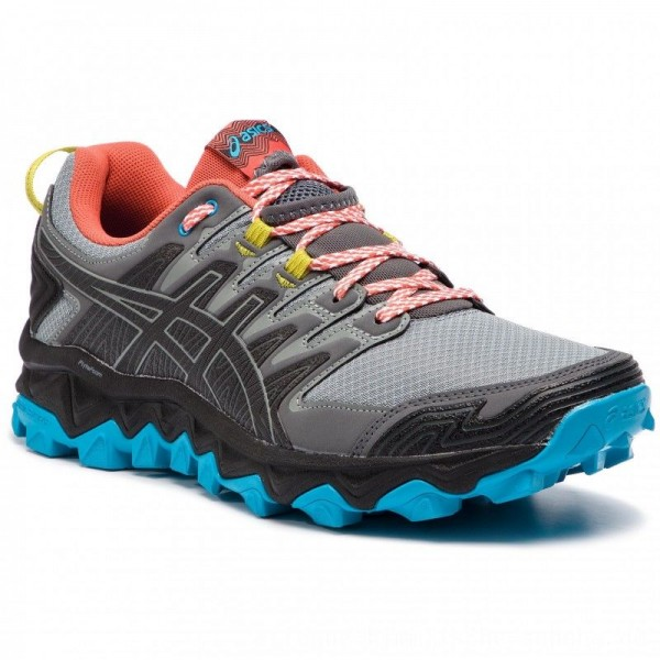 Asics Schuhe Gel-FujiTrabuco 7 1011A197 Stone Grey/Black 020 [Outlet]
