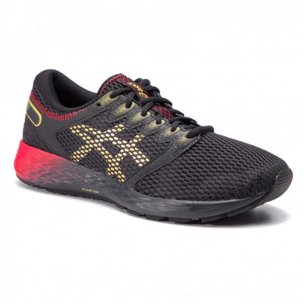 Asics Schuhe RoadHawk FF 2 1011A590 Black/Rich Gold 001 [Outlet]