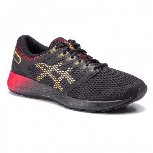 Asics Schuhe RoadHawk FF 2 1011A590 Black/Rich Gold 001