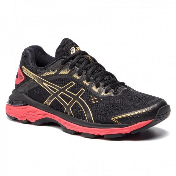 Asics Schuhe Gt-2000 7 1012A241 Black/Rich Gold 001 [Outlet]