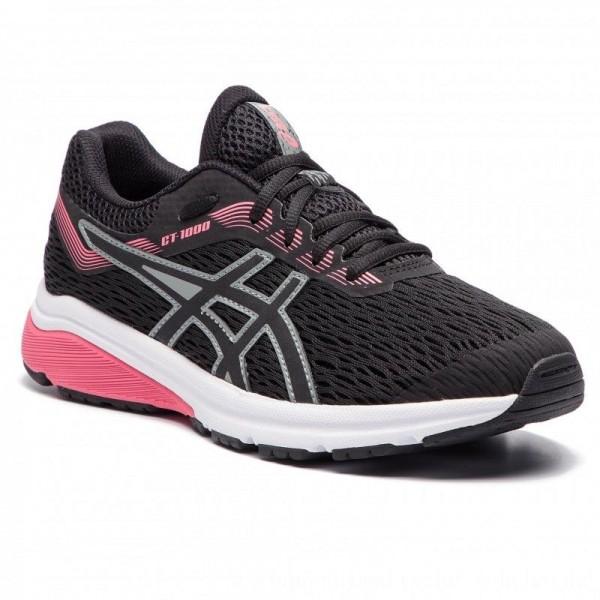 Asics Schuhe GT-1000 7 Gs 1014A005 Black/Black 004 [Outlet]
