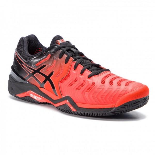 Asics Schuhe Gel-Resolution 7 Clay E702Y Cherry Tomato/Black 801 [Sale]