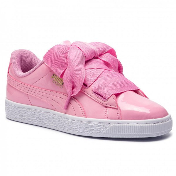 [BLACK FRIDAY] Puma Sneakers Basket Heart Patent Jr 364817 03 Prism Pink/Pcoat/Gold/White