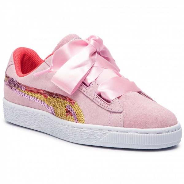 Puma Sneakers Suede Hrt Trailblazer Sqn Jr 368953 01 Pale Pink/Hibiscus [Outlet]
