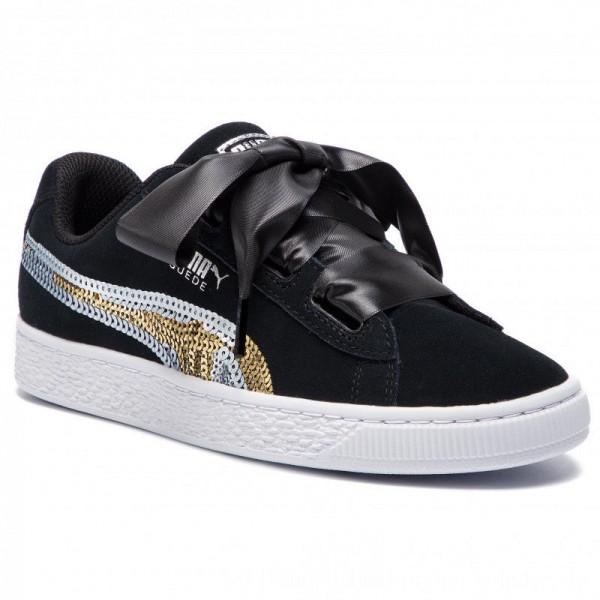 Puma Sneakers Suede Hrt Trailblazer Sqn Jr 368953 02 Black/Puma Team Gold [Outlet]