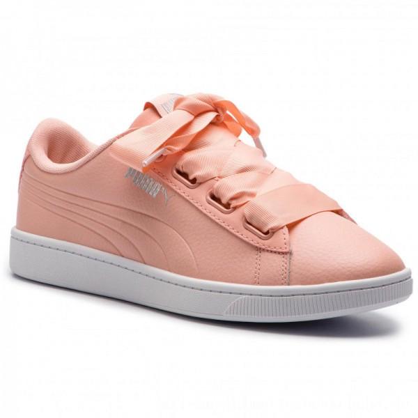 Puma Sneakers Vikky V2 Ribbon Core 369114 04 Pech Bud/Puma Silver/White [Outlet]