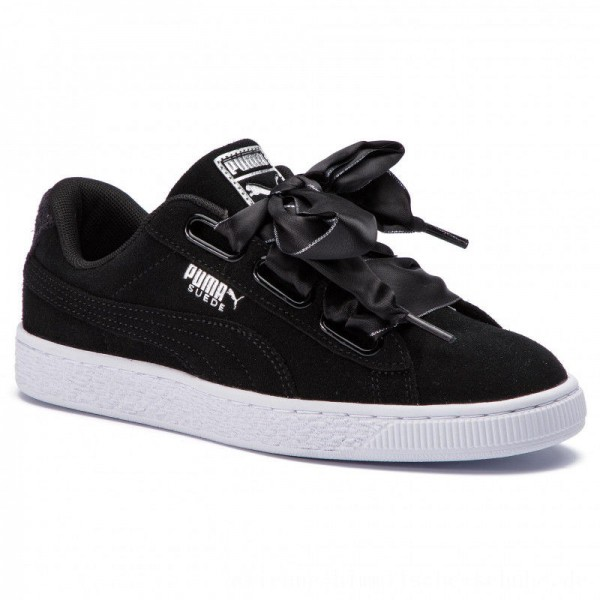 Puma Sneakers Suede Heart Galaxy 369232 03 Black/Puma Silver [Outlet]