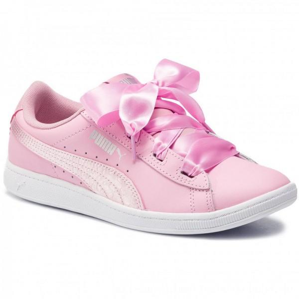 Puma Sneakers Vikky Ribbon L Satin Jr 369542 03 Pale Pink/Pale Pink [Outlet]
