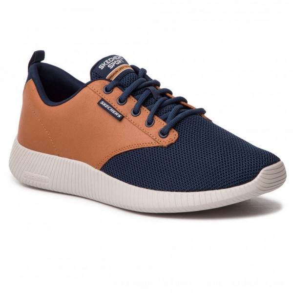 Skechers Sneakers Trahan 52398/NVBR Navy/Brown [Outlet]