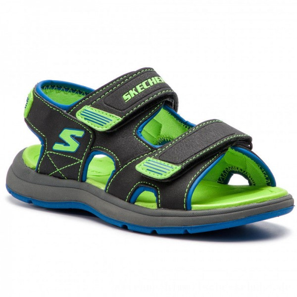 [BLACK FRIDAY] Skechers Sandalen Sun Spurt 97125L/BBLM Blk/Blue/Lime