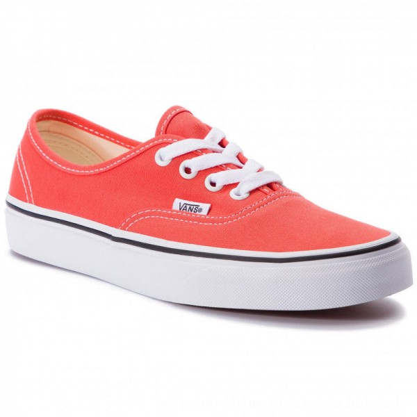 Vans Turnschuhe Authenic VN0A38EMVKR1 Emberglow/True White [Outlet]