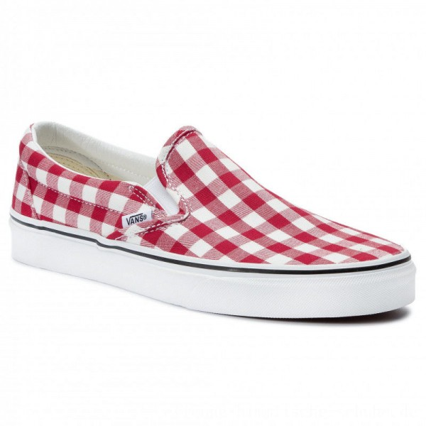 Vans Turnschuhe Classic Slip-On VN0A38F7VDY1 (Gingham) Racing Red/True [Outlet]