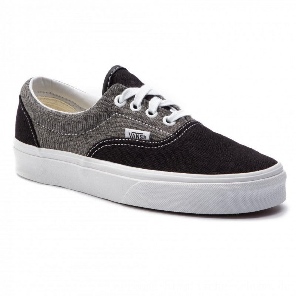 Vans Turnschuhe Era VN0A38FRVJ61 (Chambray) Canvas Black/T [Outlet]