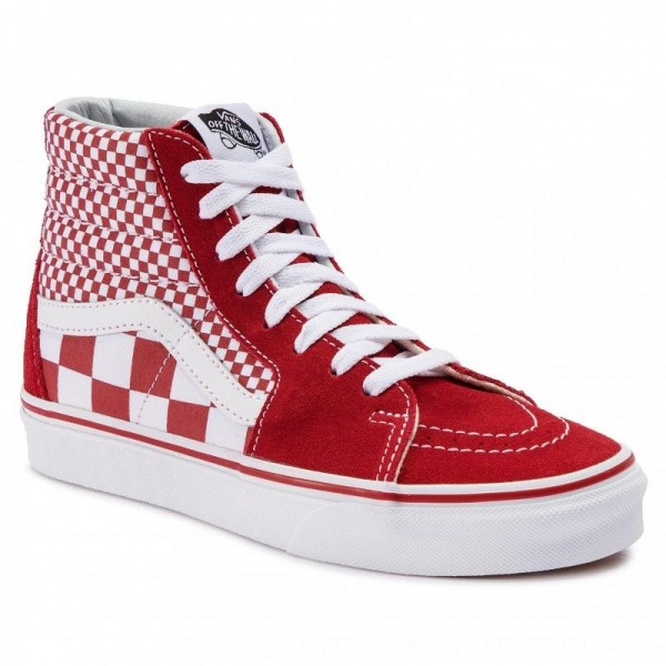 Vans Sneakers Sk8-Hi VN0A38GEVK51 (Mix Checker) CHili Pepper/True White [Outlet]