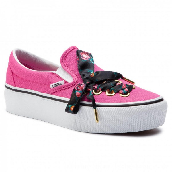 Vans Turnschuhe Classic Slip-On P VN0A3JEZVN41 (Oversized Lace) Carmine [Outlet]