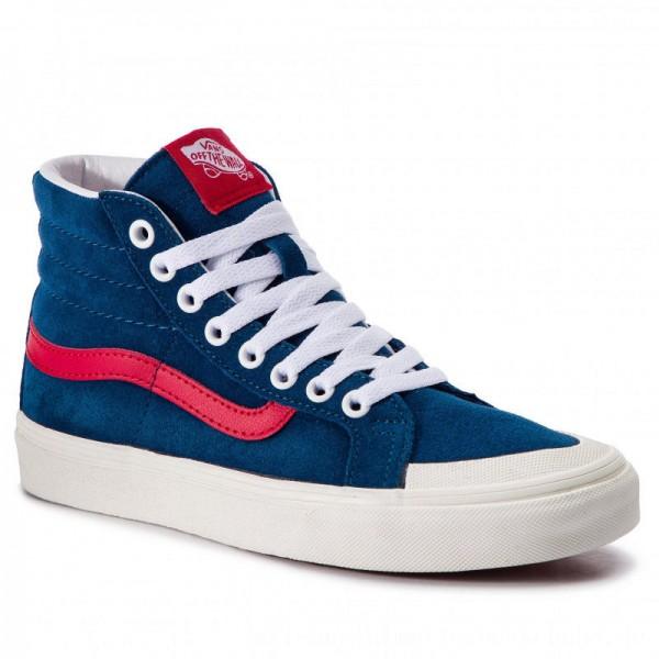 Vans Sneakers Sk8-Hi Reissue 13 VN0A3TKPVSS1 Sailor Blue/Tango Red [Sale]