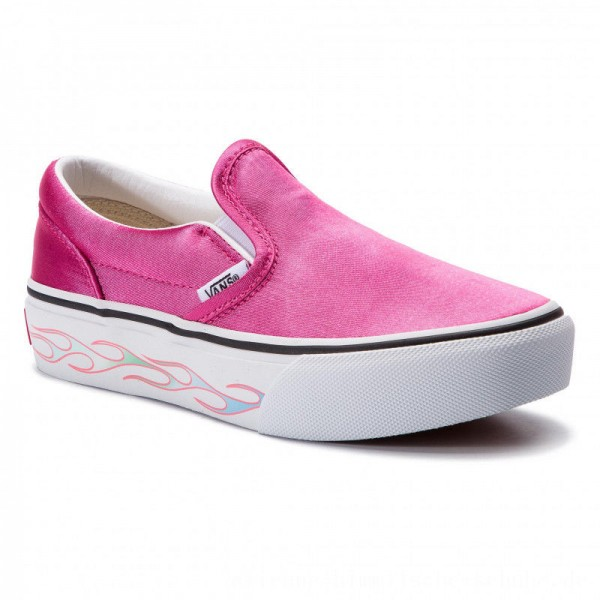 Vans Turnschuhe Classic Slip-On P VN0A3TL1VN61 Sidewall Flame/Carmine [Outlet]