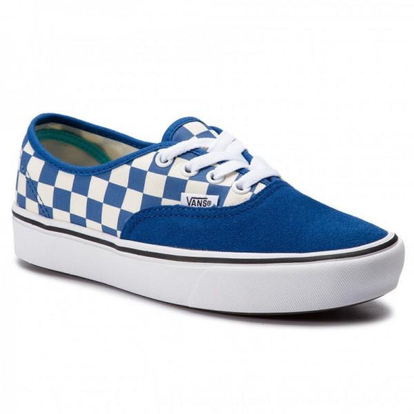 Vans Turnschuhe Comfycush Authent VN0A3WM7VNA1 (Checker) Lapis Blue/True [Outlet]