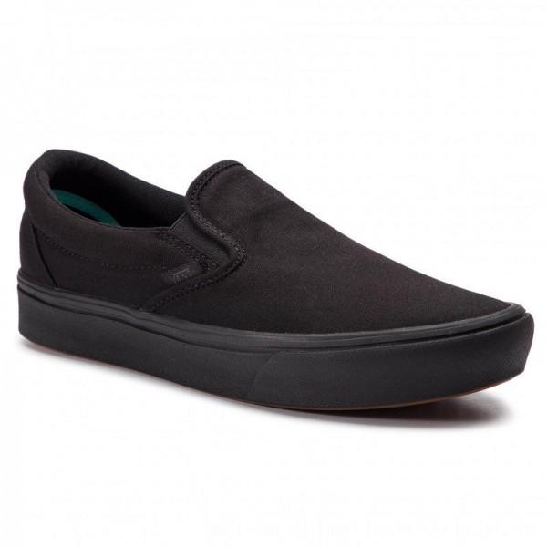 Vans Turnschuhe Comfycush Slip-On VN0A3WMDVND1 (Classic) Black/Black [Sale]