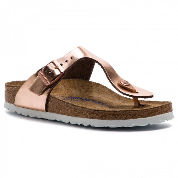Birkenstock Zehentrenner Gizeh Bs 1005049 Metallic Copper [Outlet]