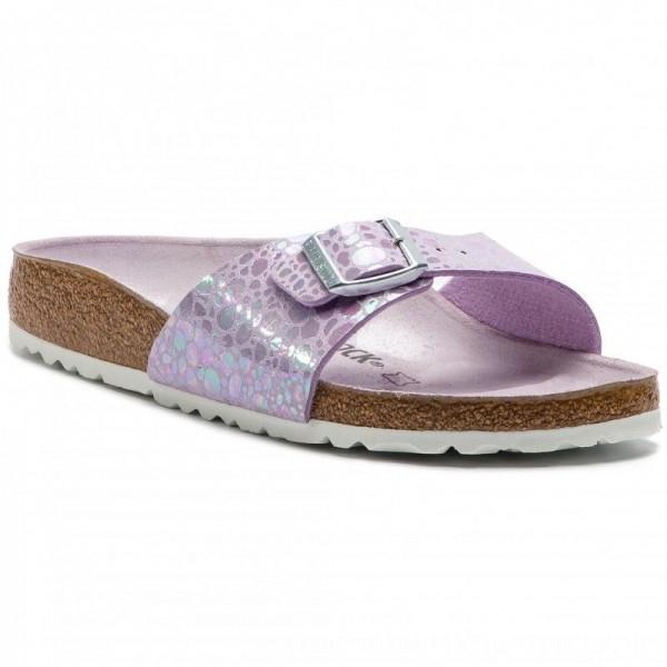 Birkenstock Pantoletten Madrid Bs 1012938 Metallic Stones Lilac [Outlet]