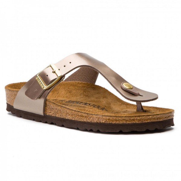 Birkenstock Zehentrenner Gizeh Bs 1012984 Electric Metallic Taupe [Outlet]