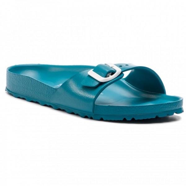Birkenstock Pantoletten Madrid 1013091 Turquoise [Sale]