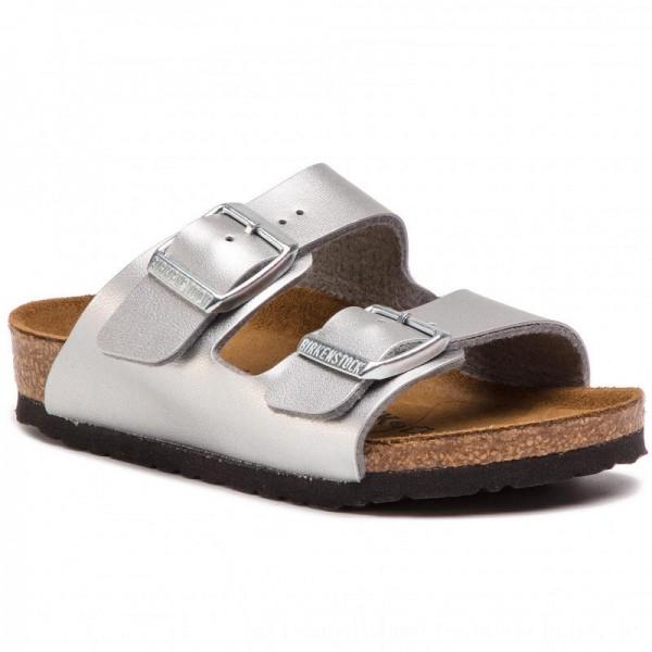 [BLACK FRIDAY] Birkenstock Pantoletten Arizona Kids 0555133 Silver 1