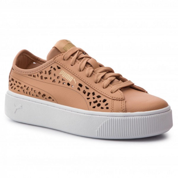 Puma Sneakers Vikky Stacked Laser Cut 369378 03 Toast/Toast [Outlet]