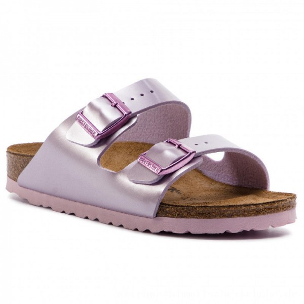 [BLACK FRIDAY] Birkenstock Pantoletten Arizona Kids 1012510 Electric Metallic Lilac