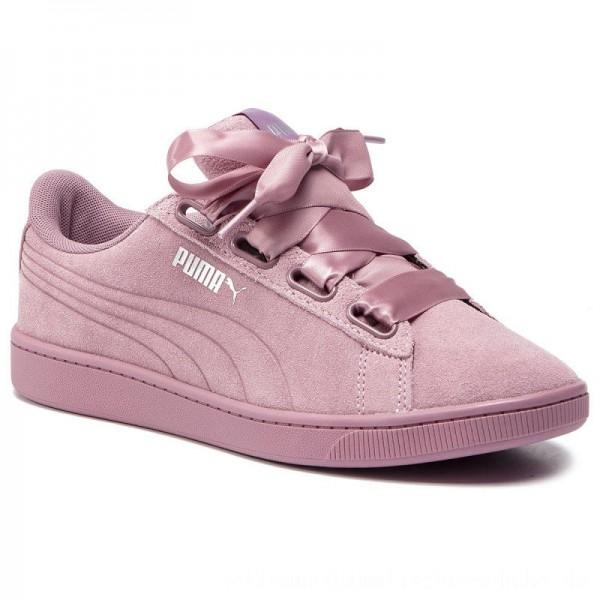 Puma Sneakers Vikky V2 Ribbon S 369726 03 Elderberry/Elderberry/Silver [Outlet]