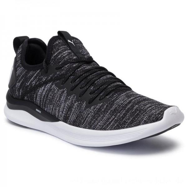 Puma Schuhe Ignite Flash EvoKnit 190508 02 Black/Asphalt/White [Outlet]