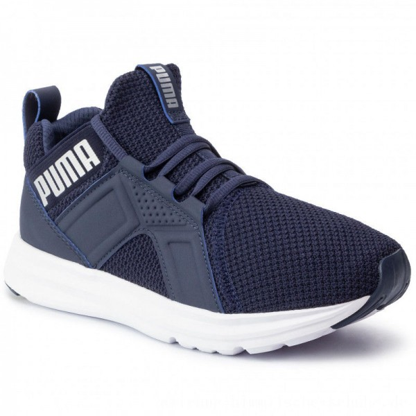 Puma Schuhe Enzo Weave Jr 192305 04 Peacoat Silver/Puma White [Outlet]
