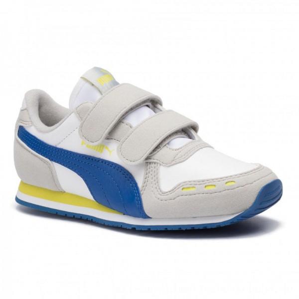 Puma Sneakers Cabana Racer SL V PS 360732 77 White/Galaxy Blue [Sale]