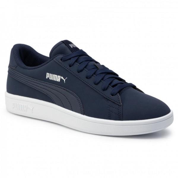 Puma Sneakers Smash V2 Buck 365160 15 Peacoat/Puma Silver/White [Outlet]