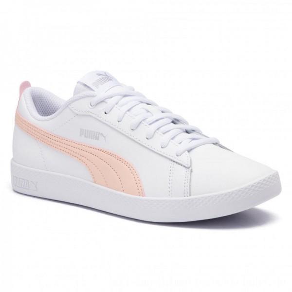 Puma Sneakers Smash Wns V2 L 365208 14 White/Peach Parfait/Silver [Sale]