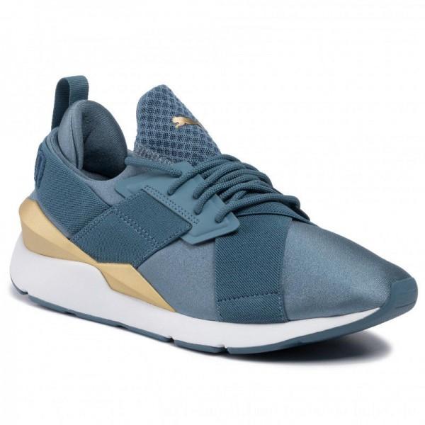 Puma Sneakers Muse Satin Ep Wn's 365534 17 Bluestone [Sale]