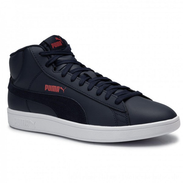 [BLACK FRIDAY] Puma Sneakers Smash v2 Mid L 366924 03 Peacoat/High Risk Red/White