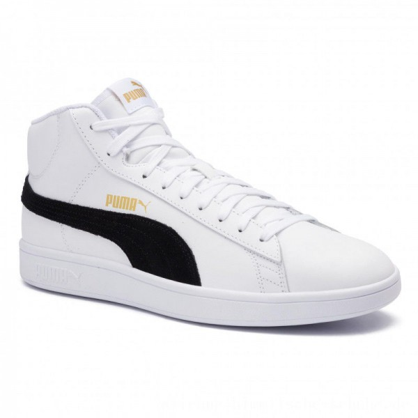 [BLACK FRIDAY] Puma Sneakers Smash v2 Mid L 366924 05 White/Black/Gold/High Rise