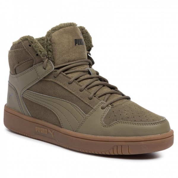 [BLACK FRIDAY] Puma Sneakers Rebound LayUp SD Fur 369831 03 Burnt Olive/Puma Black/Gum